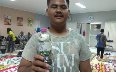 Stefanus just ecobricked 210g of plastic out of the kota semarang, Indonesia biosphere!