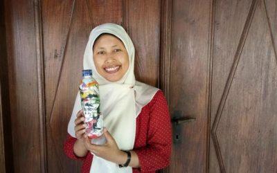 rahmi just ecobricked 210 g of plastic out of the Yogyakarta, Indonesia biosphere…