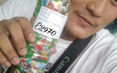 Mark Kelvin just ecobricked 278 g of plastic out of the Marikina, Philippines biosphere…