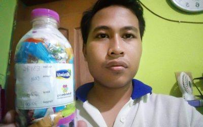Dwi ecobricked 220 g of plastic in Semarang, Indonesia…