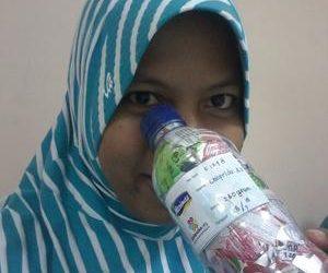 Chafrida ecobricked 200 g of plastic in Semarang, Indonesia…