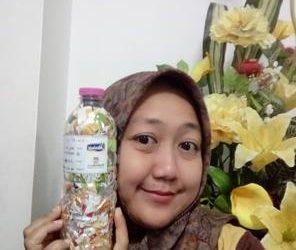 Eka ecobricked 275 g of plastic in Semarang, Indonesia…