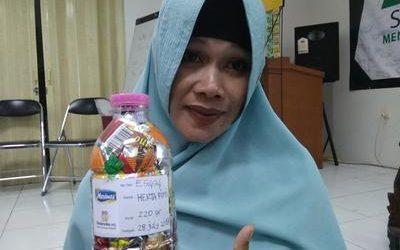 Herta ecobricked 220 g of plastic in Semarang, Indonesia…