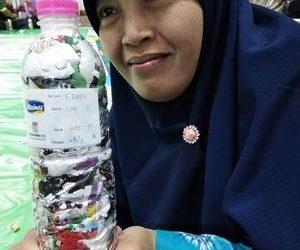 umi ecobricked 205 g of plastic in Kabupaten Demak, Indonesia…