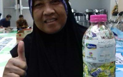 Rubi ecobricked 205 g of plastic in Semarang, Indonesia…