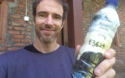 Russell ecobricked 234 g of plastic in Ubud, Indonesia…