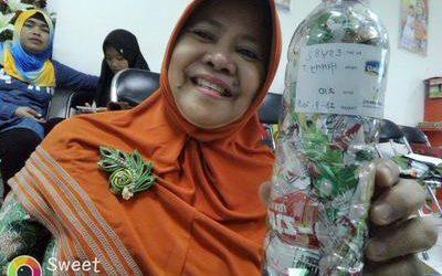 Henny ecobricked 210 g of plastic in Semarang, Indonesia…