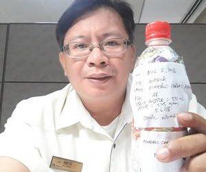 Almeric Carlo ecobricked 225 g of plastic in Quezon City, Philippines…