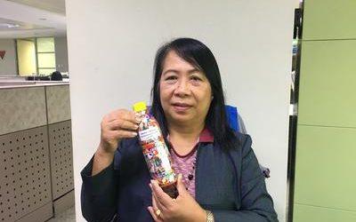 Marissa ecobricked 400 g of plastic in Manila City, Philippines …
