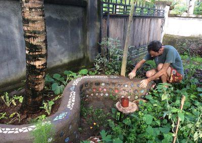 Ecobrick garden bench